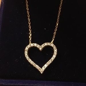 Heart pendant chain attached (925)